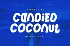 Web Font Candied Coconut Font Product Image 4