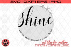 Shine Like the Universe is Yours - Distressed/Smooth - Rumi Product Image 4