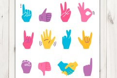 Vector cartoon hand gestures Product Image 2
