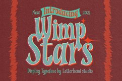 Wimp Stars - Display Typeface Product Image 1