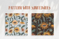 Pattern with sunflowers Product Image 1
