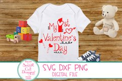 1st Valentine's Day SVG, Kids Valentine SVG, Kids Love SVG Product Image 1