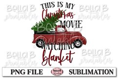This Is My Christmas Movie Watching Blanket Sublimation Product Image 2