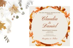 Autumn Wreath Wedding Invitation Product Image 3