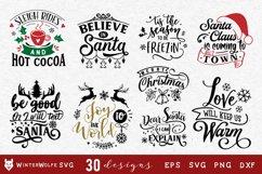 Christmas Bundle 30 designs SVG EPS DXF PNG Product Image 2
