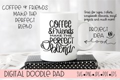 Coffee and Friends Make the Perfect Blends SVG Cut File Product Image 2