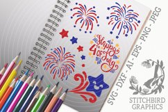 Independence Day Fireworks SVG, Silhouette Studio, Cricut Product Image 1