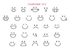 Emot Kawaii dingbat font Product Image 4