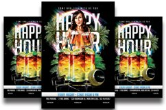 Happy Hour Flyer Template Product Image 1