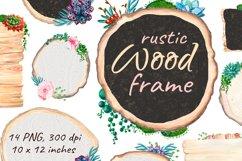 Flower Wood Sign Board Rustic Chalkboard Product Image 1