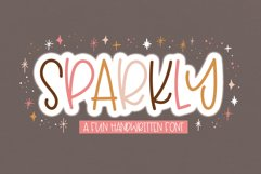 Sparkly - A Fun Handwritten Font Product Image 1