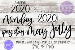 Planner Sticker SVG and PNG Files Product Image 1