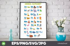 Animal Kids Alphabet Clipart, English ABS letters School Product Image 3