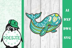 Whale SVG layered 3d multi layer mandala sea animal nautical Product Image 5