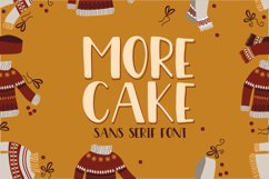 More Cake Font Product Image 1