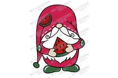 Watermelon Gnome - Summer - Cutting File - SVG DXF EPS Product Image 4