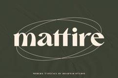 Mattire - Modern Serif Typeface Product Image 1