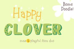 Happy Clover Font Duo Product Image 1