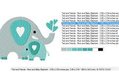 ELEPHANTS Machine Embroidery Design in 2 sizes Product Image 2