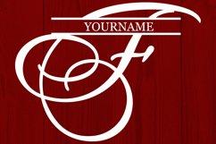 F Split monogram SVG Split letter svg Monogram font Product Image 2