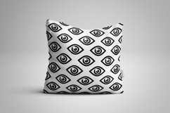 5 Seamless patterns set with different eyes Product Image 4