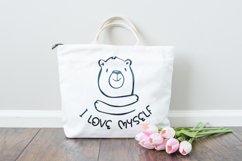 I Love Myself SVG | Inspirational SVG | Bear SVG Product Image 2