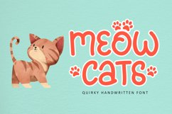 Meowcats - A Quirky Font Special For Cats Lover Product Image 1