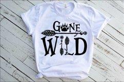 Gone Wild SVG Bear Paw Arrow Stay One Birthday baby 1533s Product Image 1