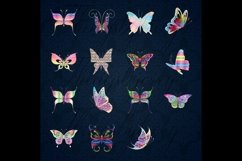 30 Rainbow Glitter Sequin Watercolor Butterfly Clip Arts PNG Product Image 3