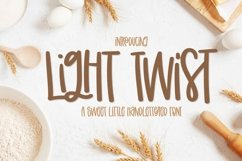 Light Twist - A Fun Hand Lettered Font With Ligatures Product Image 1