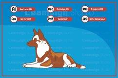 Sitting dog character illustration Product Image 1