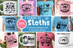 Sloth SVG Bundle - Relaxed & Fun Sloths PNGs Product Image 2