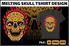 Melting skull tshirt design Product Image 1