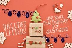 YULE - Christmas Lights Font  Product Image 6