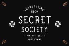 SECRET SOCIETY - A Vintage Serif Product Image 1
