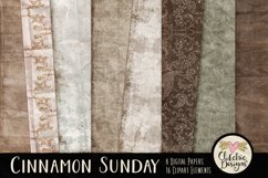 Digital Scrapbook Kit - Cinnamon Sunday Product Image 2