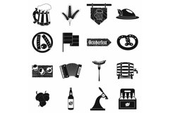 Oktoberfest party black simple icons Product Image 1