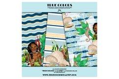 African American Mermaid Digital Paper Black Beautiful Product Image 4
