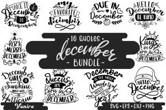 10 December Bundle | Lettering Quotes Product Image 1
