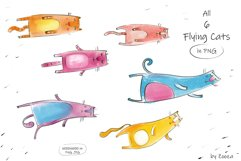 Flying Cats - patterns, illustrations Product Image 5