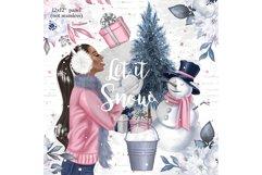 Winter digital paper, Christmas digital paper, seamless Product Image 6