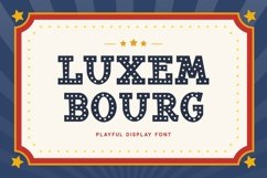 Luxembourg - Playful Display Font Product Image 1