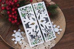 White Christmas Snowflake Invitation cutting file Product Image 1