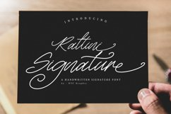 Rattini Signature Handwritten Script Font Product Image 1