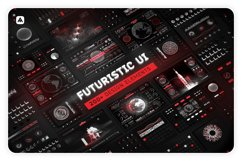 Futuristic UI Kit 200 design elements Product Image 1