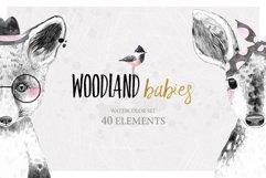WOODLAND BABIES watercolor set Product Image 1