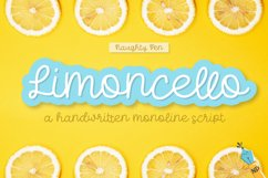 Limoncello Handwritten Monoline Script Product Image 1