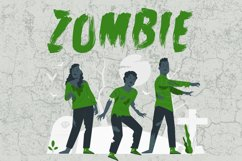 Zombie Attack Halloween Font Product Image 5