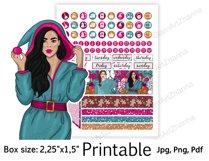 "Christmas Printable Sticker BoxSize 2,25""x1,5"" Product Image 6"