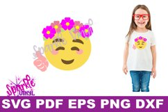 SVG Emoji Smile Flowers Thumbs Up shirt sign printable cut file svg dxf eps png for cricut or silhouette Product Image 2
